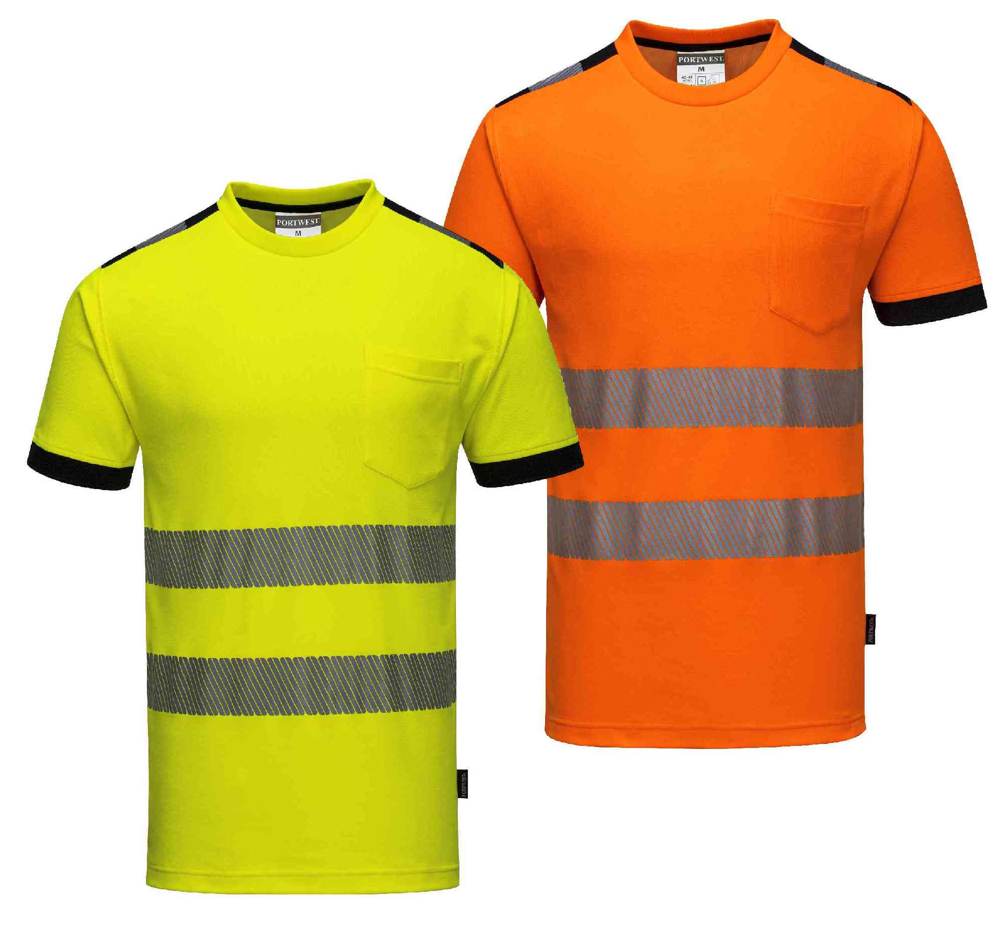 Portwest t181 hi vis t shirt for Hi vis t shirt printing
