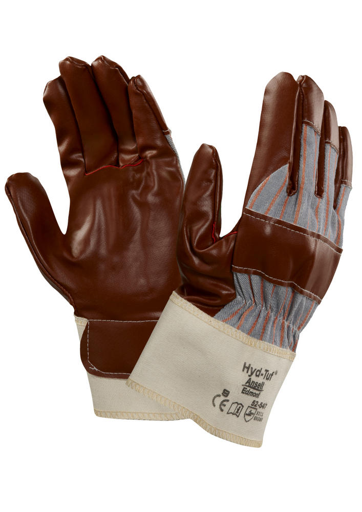 Ansell 52-547 Hyd-Tuf Nitrile-Coated Jersey Rigger Work Gloves Cut 1 Protection