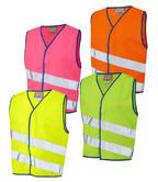 Leo Workwear CW01 Neonstars Children Hi Vis Waistcoat