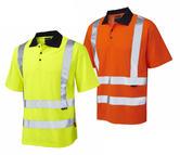 Leo Workwear P01 Croyde Men Hi Vis Polo Shirt