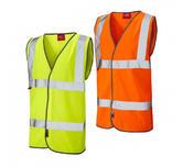 Leo Workwear W06 Dolton Flame Retardant Polyester Hi Vis Waistcoat