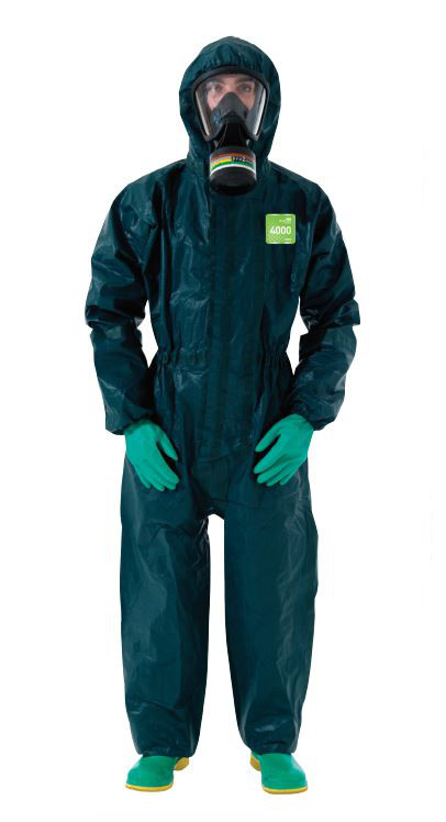 Ansell Microchem 4000 Model 121 Disposable Chemical Coverall