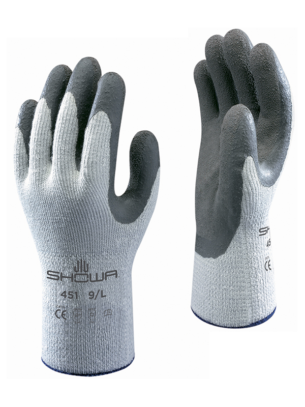 Showa Thermo Grip 451 Cold Conditions, Latex Coated Palm Glove, Excellent Grip 2.2.4.1