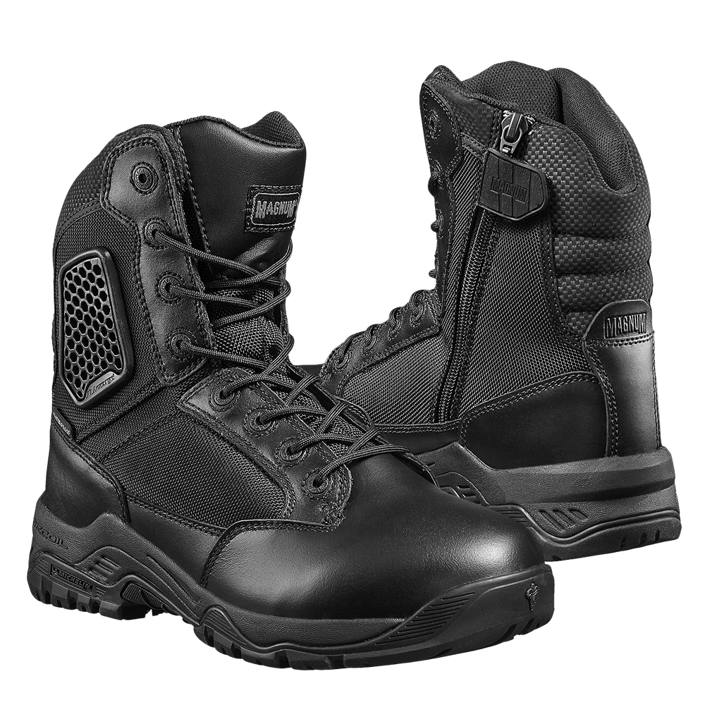 bc8337338b6 Magnum Strike Force Men Waterproof Boot 8.0 Metal Free Side Zip