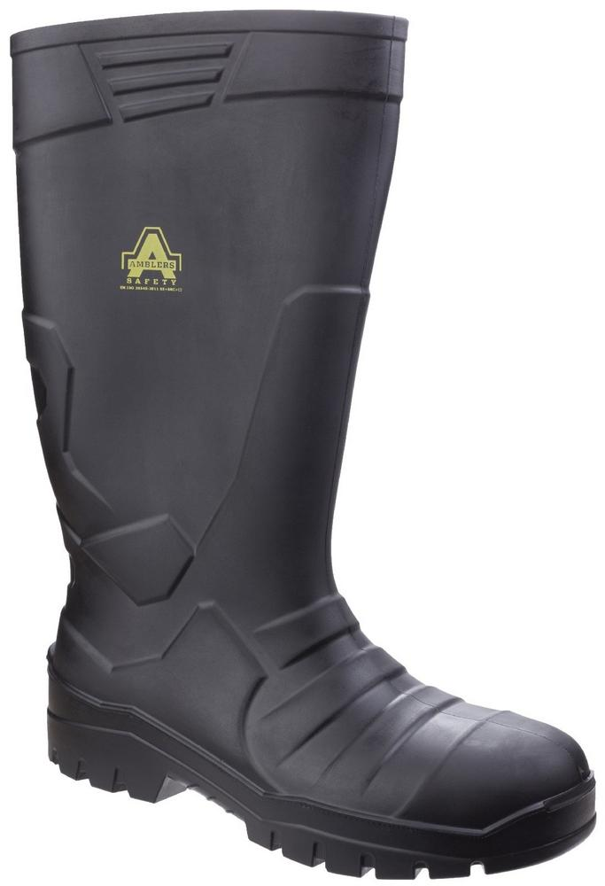 Amblers AS1006 Unisex Safety Wellington Boots Cold Insulated Black