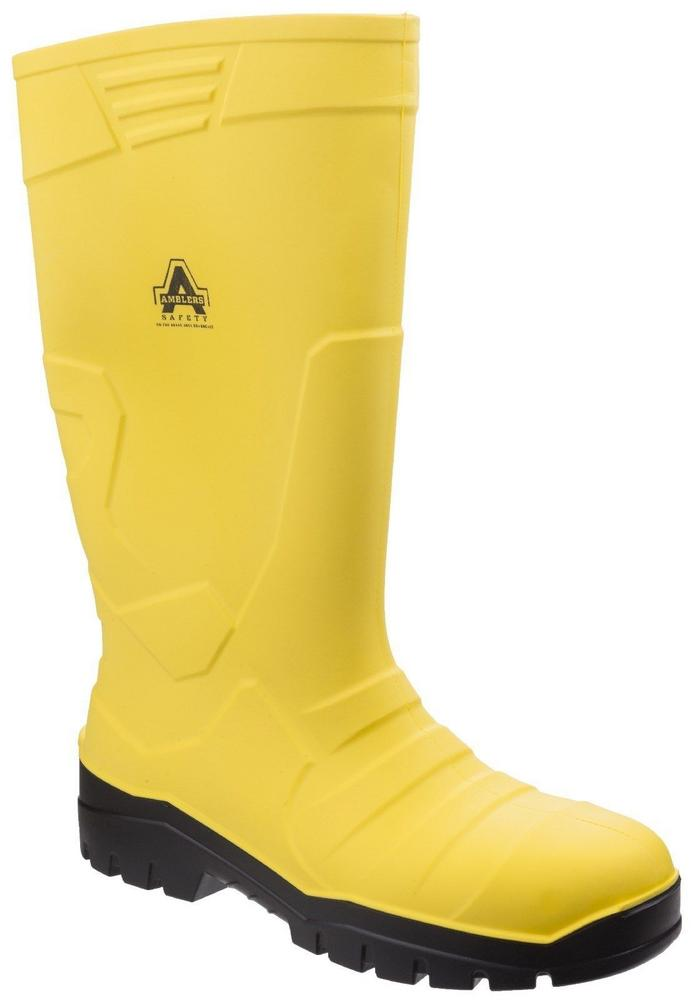 Amblers AS1007 Unisex Yellow Safety Wellington Boots Cold Insulated