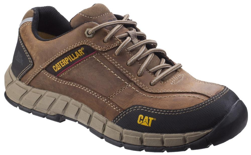 Cat Footwear Streamline Leather Upper Composite Toe Cap S1 Safety Trainer Shoes