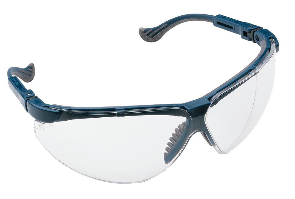 Honeywell 1010950 XC Blue Frame Clear Lens Safety Glasses