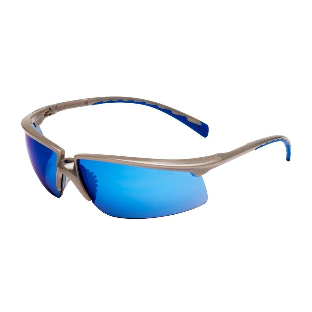 3M Solus 71505-00009 Blue Anti-Scratch Mirror Lens Safety Glasses