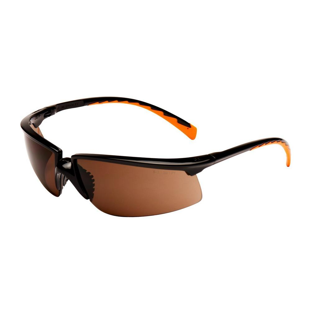 3M Solus 71505-00003M Bronze Anti-Scratch Anti-Fog Safety Glasses