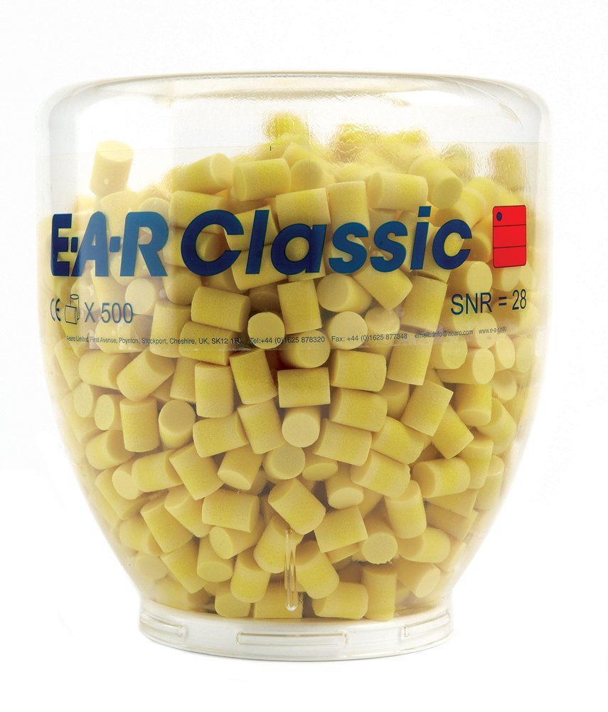3M E-A-R Refill Bottle with 500 Pairs of Classic E-A-R Earplugs EARCRB