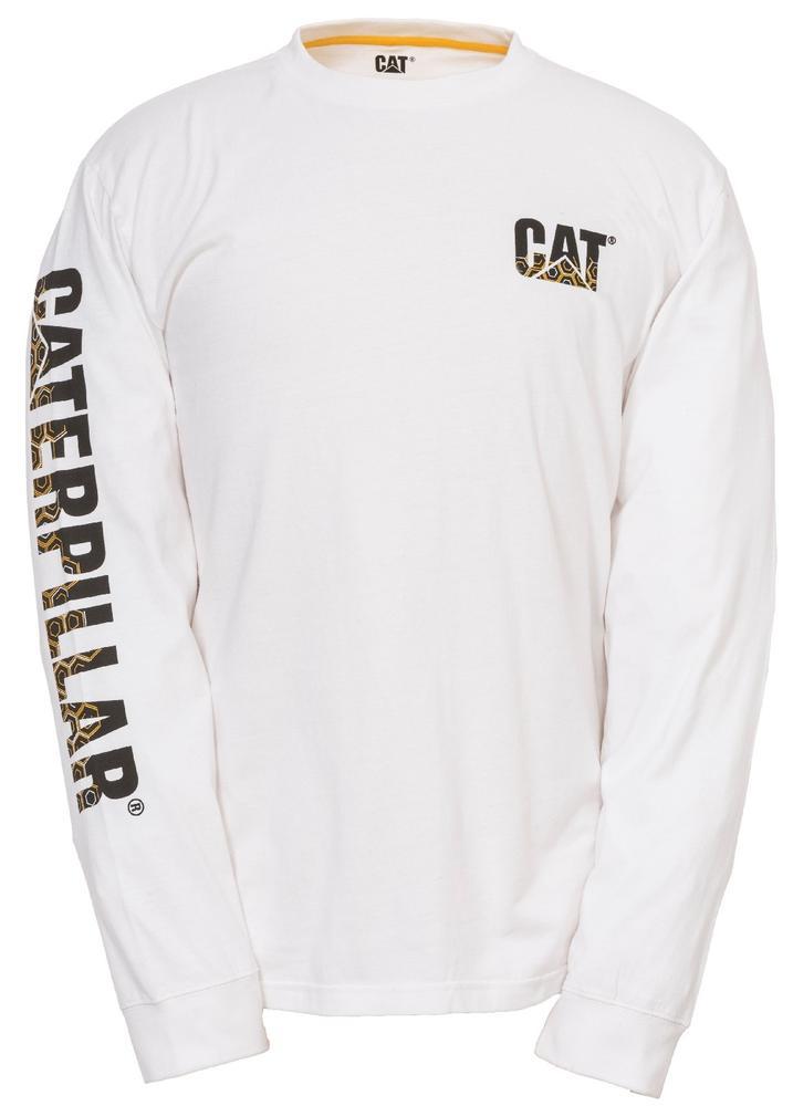 CAT Apparel 1510317 Custom Banner Long Sleeve T-Shirt White