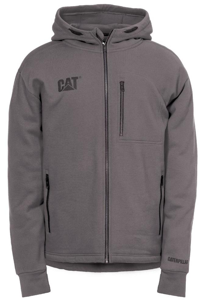 CAT Apparel 1910060 Drop Tail Men Sweatshirt Front Zip Polycotton