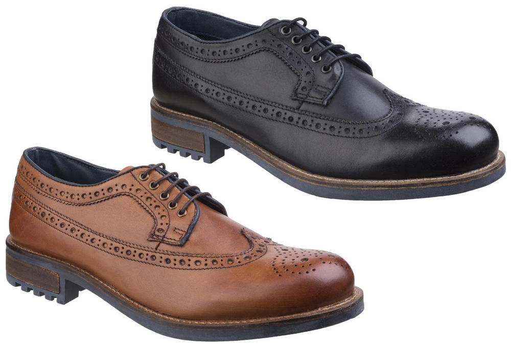 Cotswold Poplar Men Wing Tip Lace Up Formal Shoes