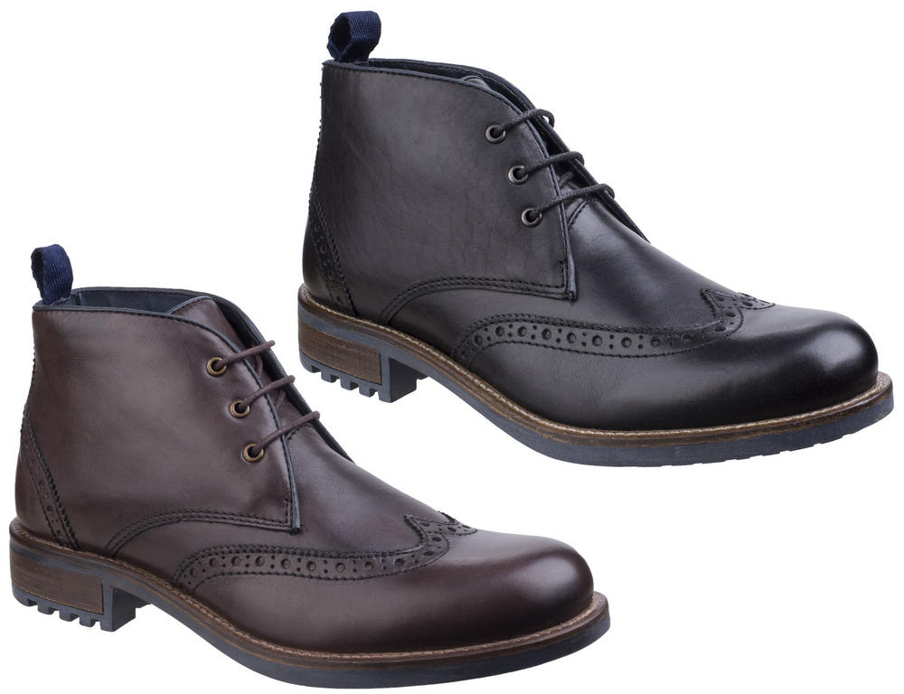 Cotswold Avening Men Wing Tip Lace Up Formal Boots
