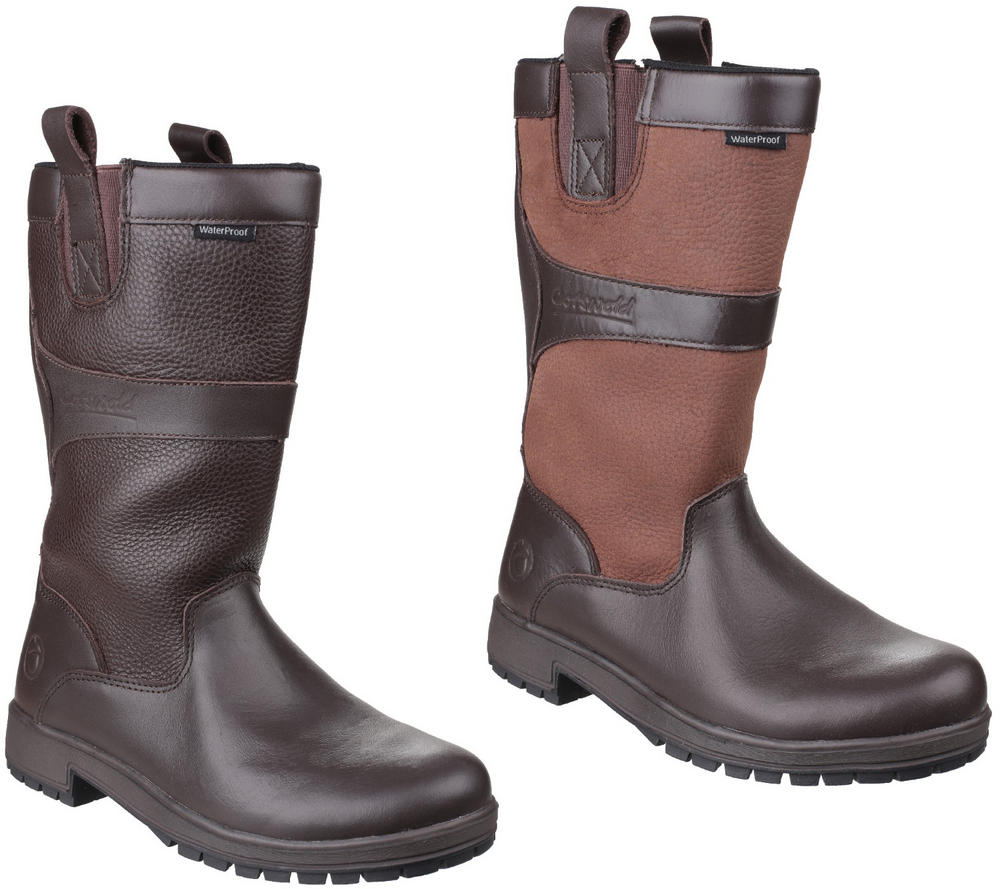 Cotswold Ascot Ladies Mid-Calf Casual Leather Waterproof Boots