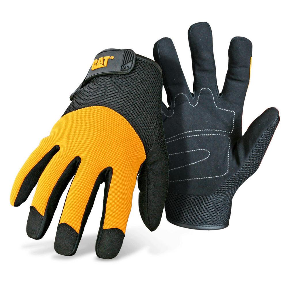 Caterpillar 12215 Padded Palm Work Gloves, Size - L