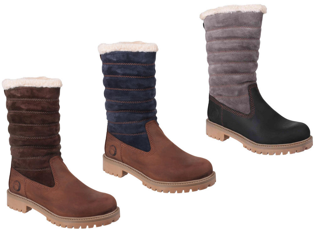 Cotswold Ripple Ladies Faux Fur Lined Pull-Up Boots