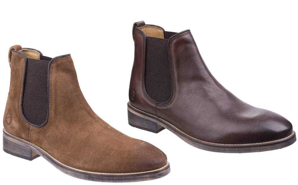 Cotswold Corsham Leather Upper Classic Chelsea Casual Dealer Boots
