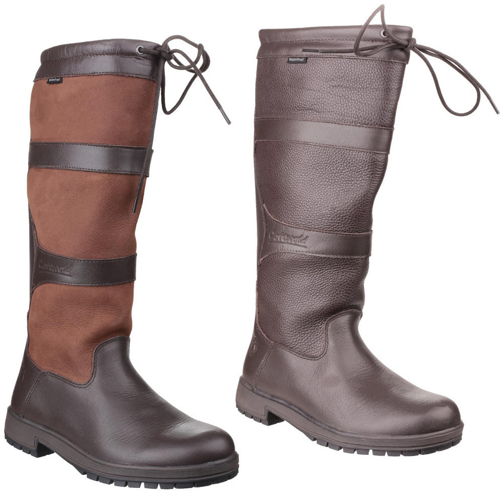 Cotswold Beaumont Ladies Pull On Waterproof Leather Outdoor Boots