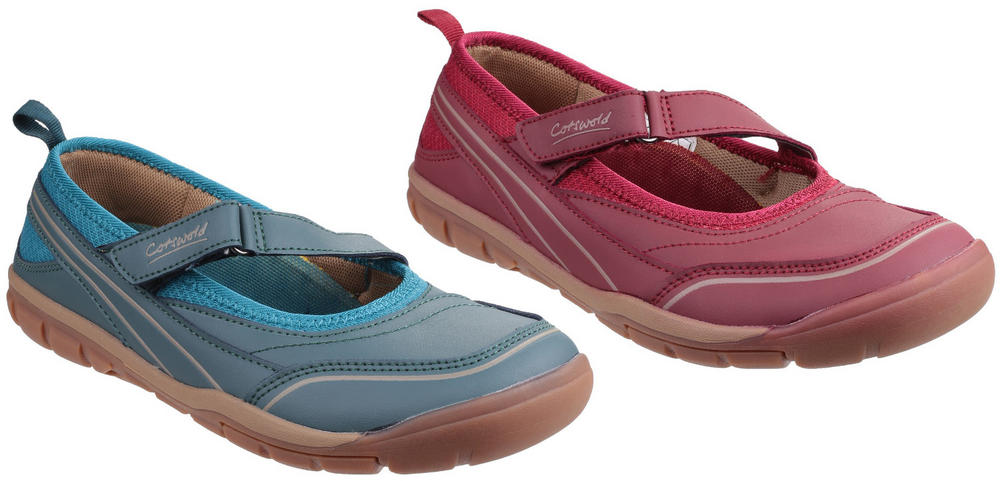 Cotswold Appleton Touch Fastening Ladies Ballerina Casual Sport Shoes