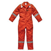 Dickies Firechief FR5055 Flame Retardant Hi Vis Otange Boilersuit Work Coverall 220gsm