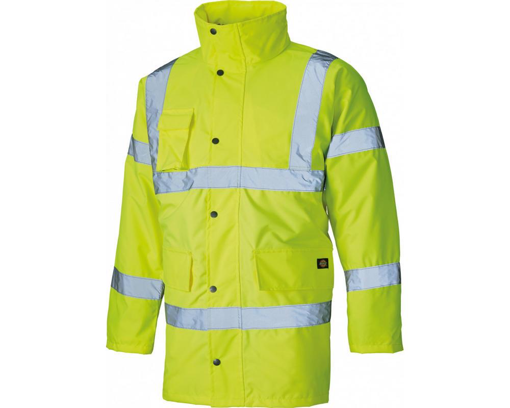 Dickies SA22045 Hi Vis Waterproof Lined Jacket - Yellow