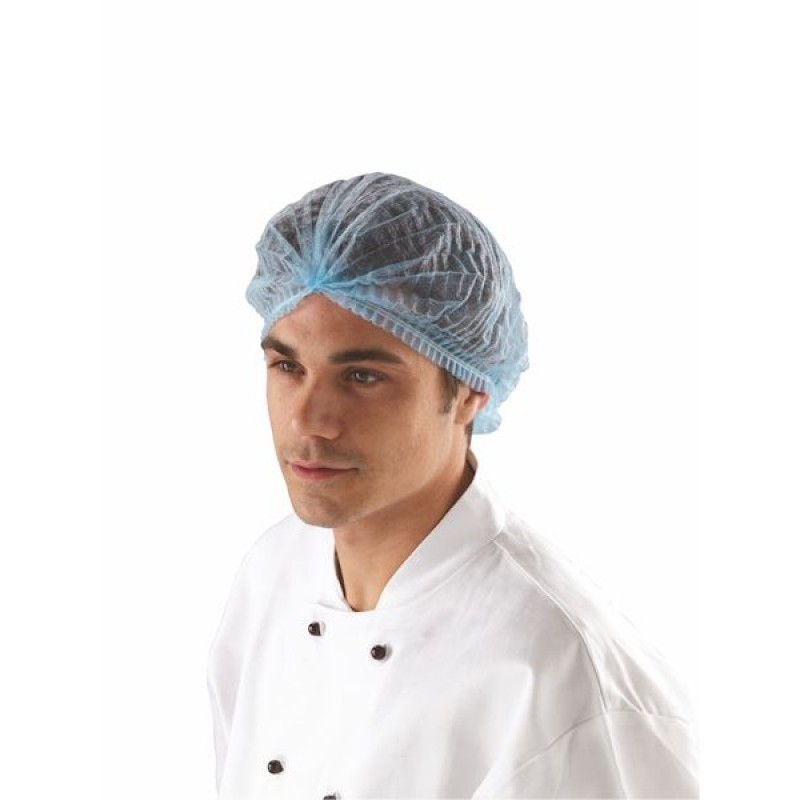Disposable Lightweight & Fully Elasticated Mob Cap Blue (Box of 1000)