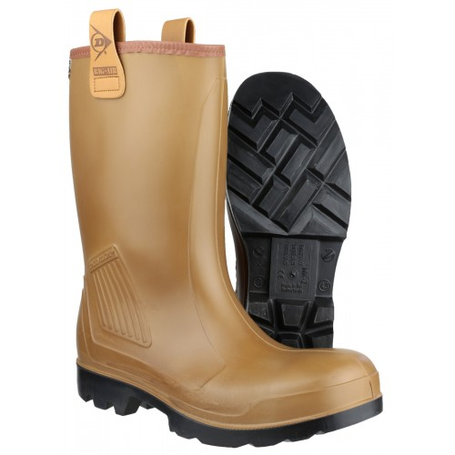 Dunlop Purofort Waterproof Fur Lined Steel Toe Cap & Midsole C462743 Rig-Air S5 Rigger Boot