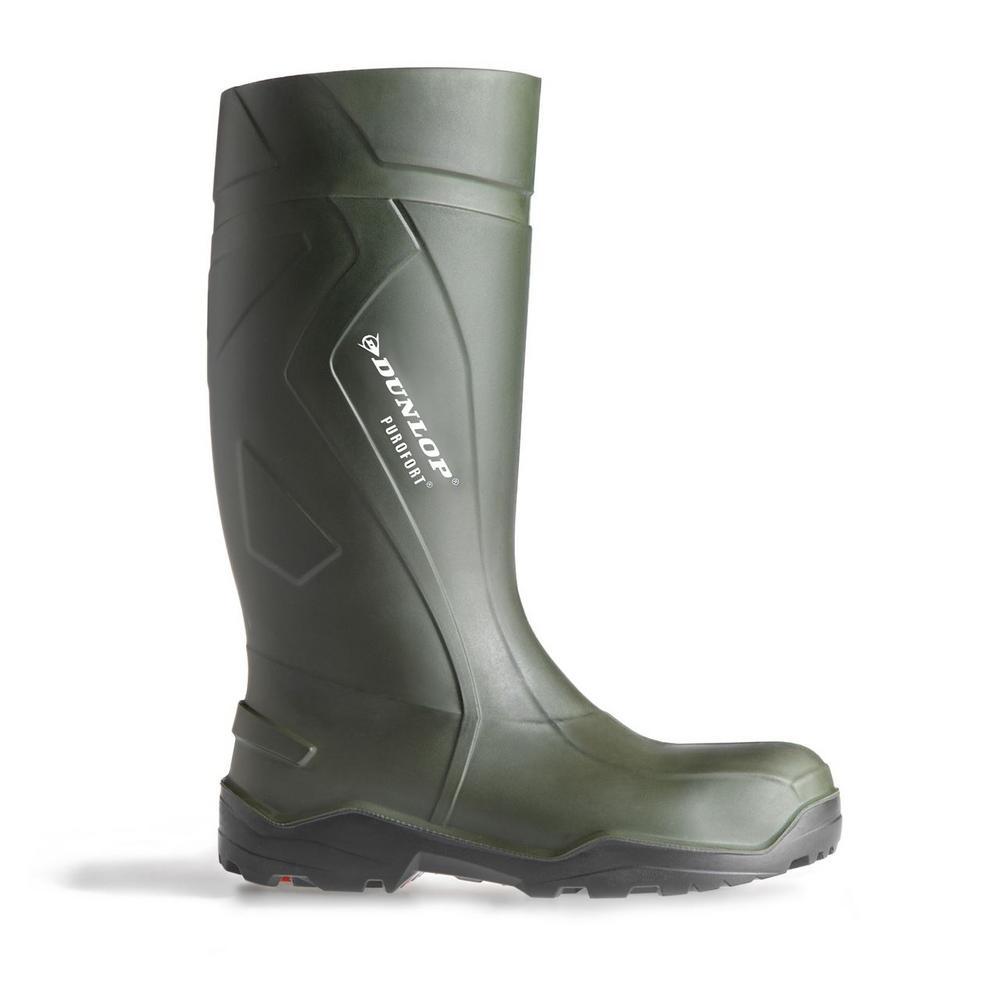 Dunlop Purofort Steel Toe and Midsole C762933 Safety Wellington - Green