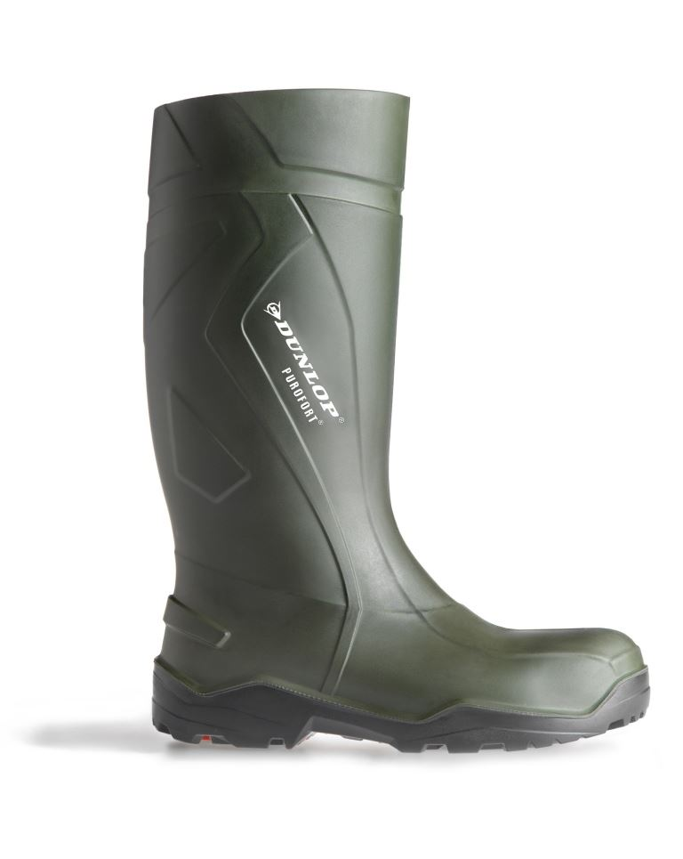 Dunlop Purofort Chemical Resistant D760933 Safety Wellington - Green / Black, Size 9