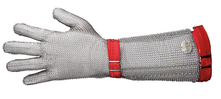 Fm Plus Chain Mail Elbow Length 19Cm Gauntlet Glove