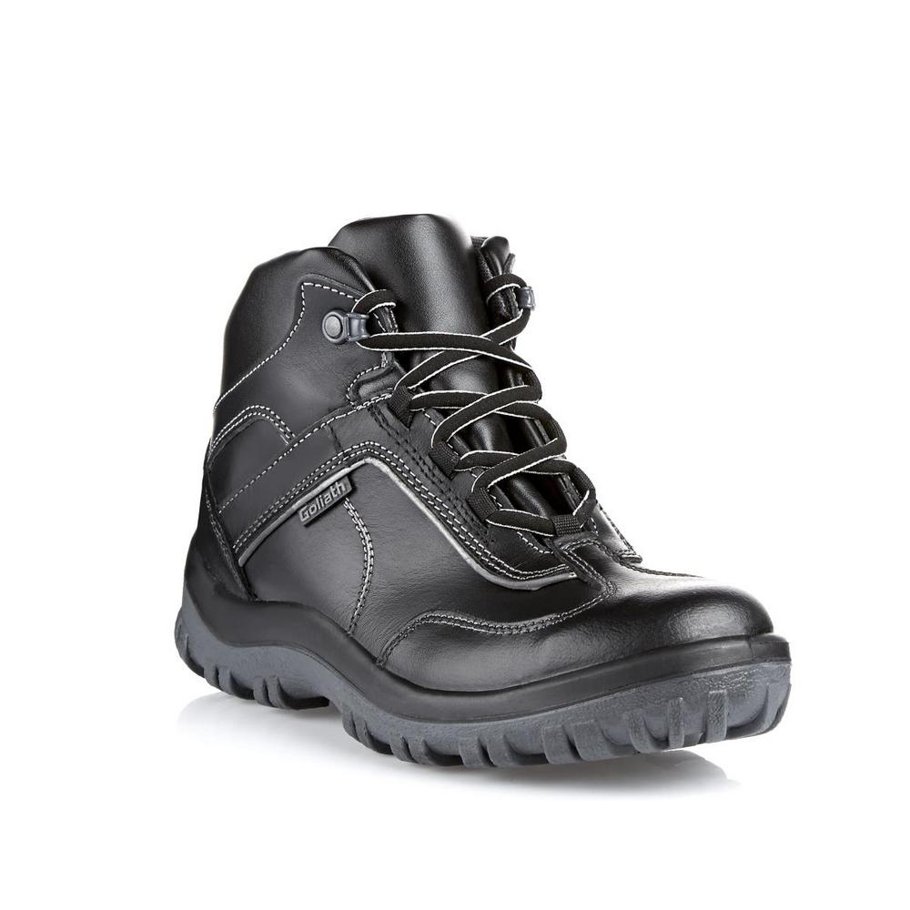 Goliath Track Ankle Full grain water resistant leather Safety Boot - Black