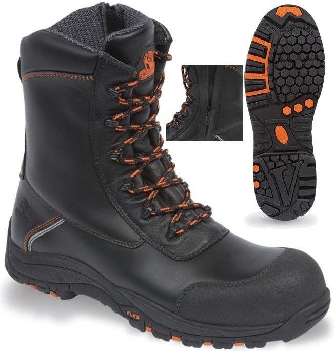 V12 Vtech Defiant Black Side Zip S3 Safety Boot E1300