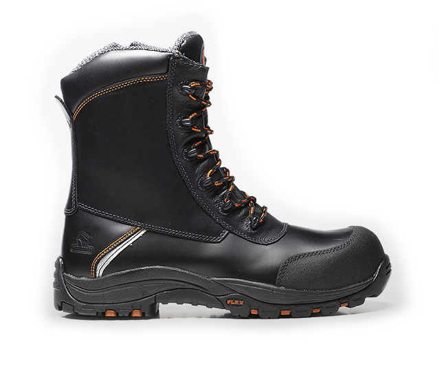 V12 E1300 Defiant High Leg Zip Amp Lace Safety Boot S3