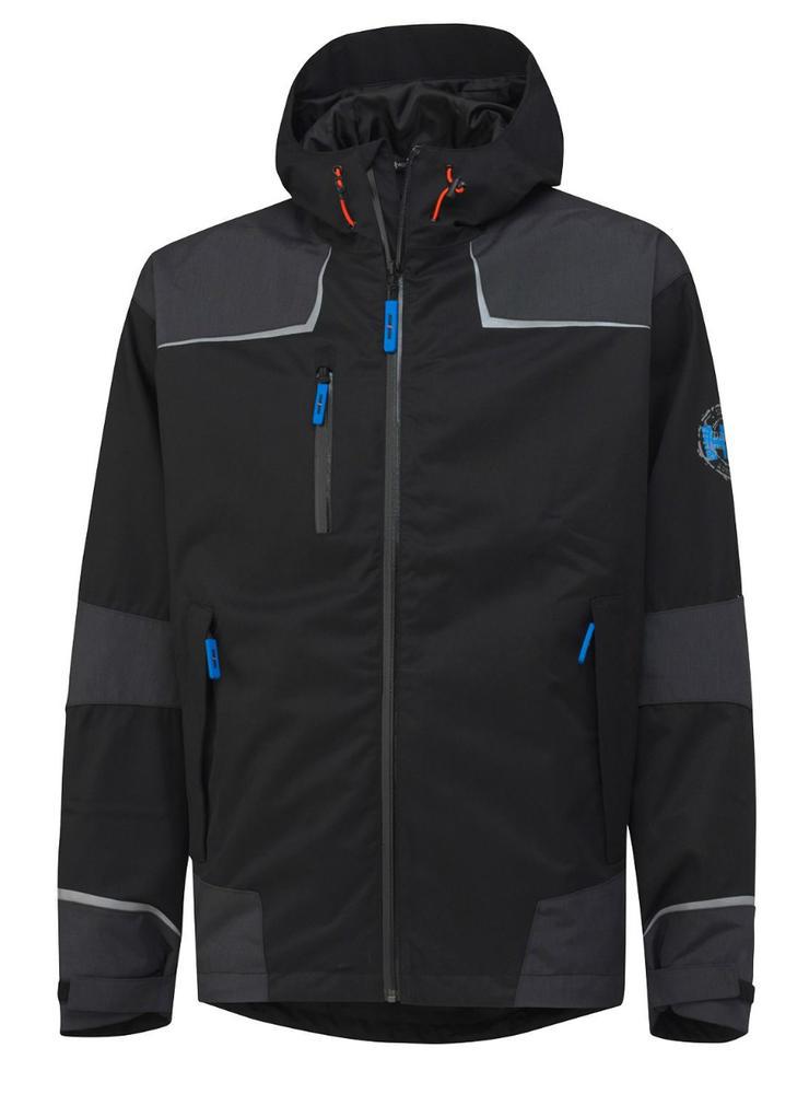 Helly Hansen 71047 Chelsea Shell Waterproof Windproof Black Jacket, Size - XX Large