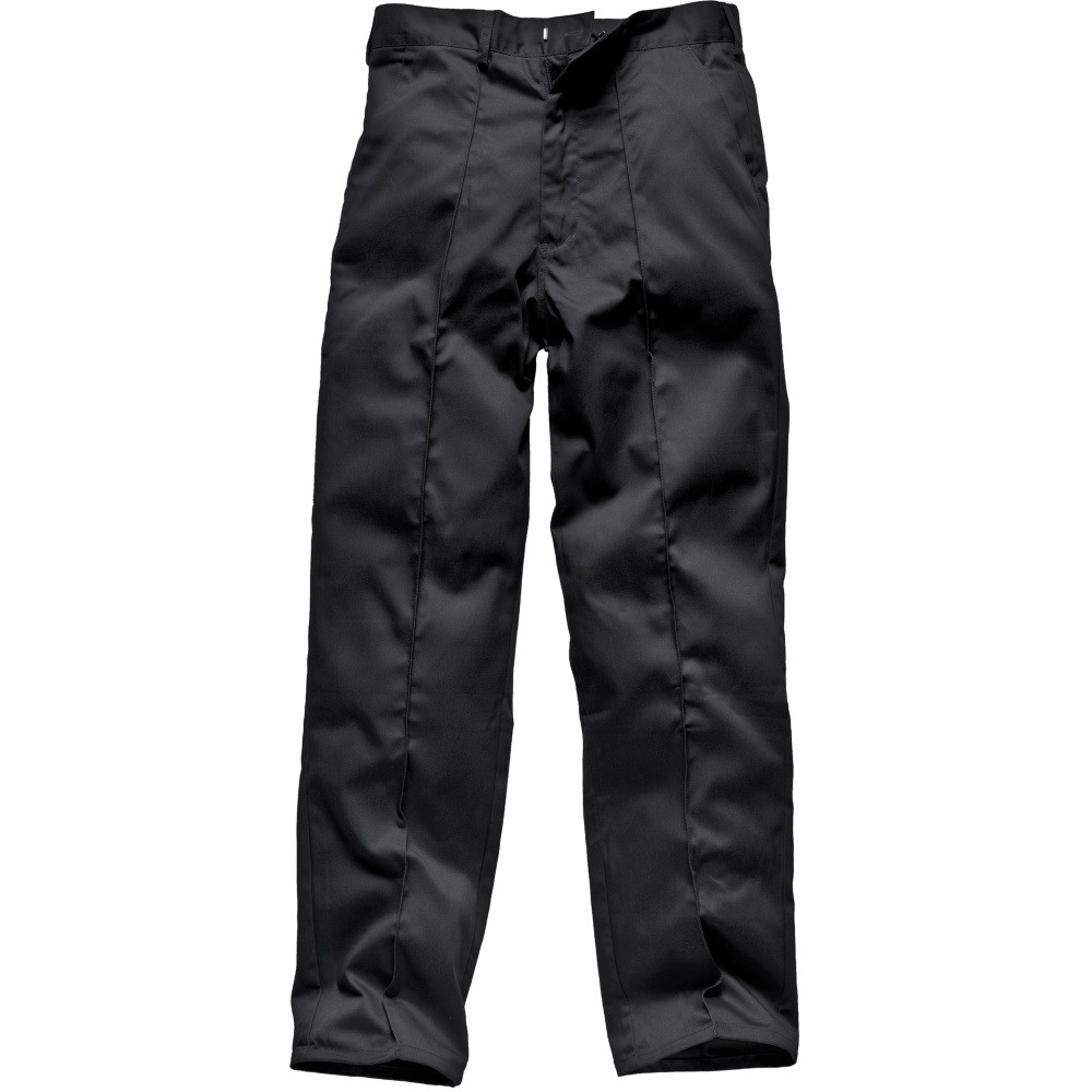 """Dickies WD864R Redhawk Black Work Trousers, Size - 32"""" Tall"""