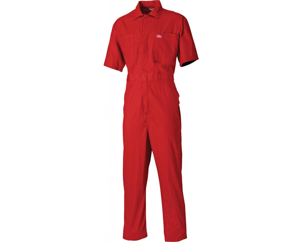 Dickies WD2299 Short Sleeved Lightweight Red Work Cotton Coverall