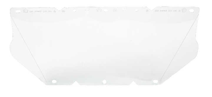MSA 10115837 Visor Replacement Clear Polycarbonate Chinguard Slots
