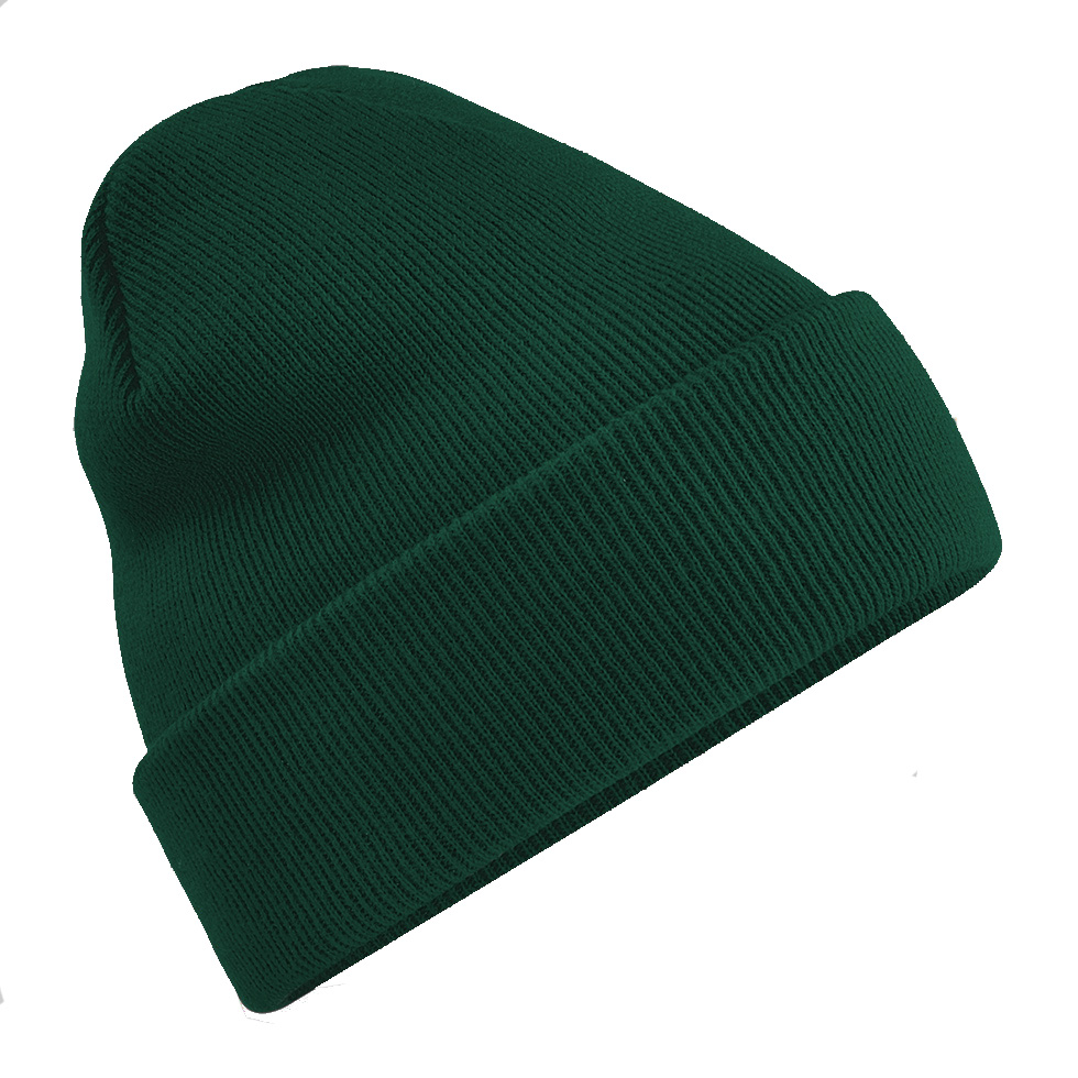 f8fc6161 Beechfield B45 Original Unisex Cuffed Beanie Hat Dark Green