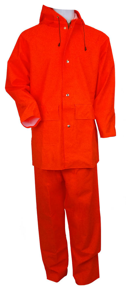Arvello Men Two Pieces PVC Coated Unlined Raincoat