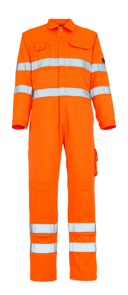 Mascot Utah 00419-860-14 Hi Vis Reflective Bands Orange Boilersuit with Kneepad Pockets, Size - 44""