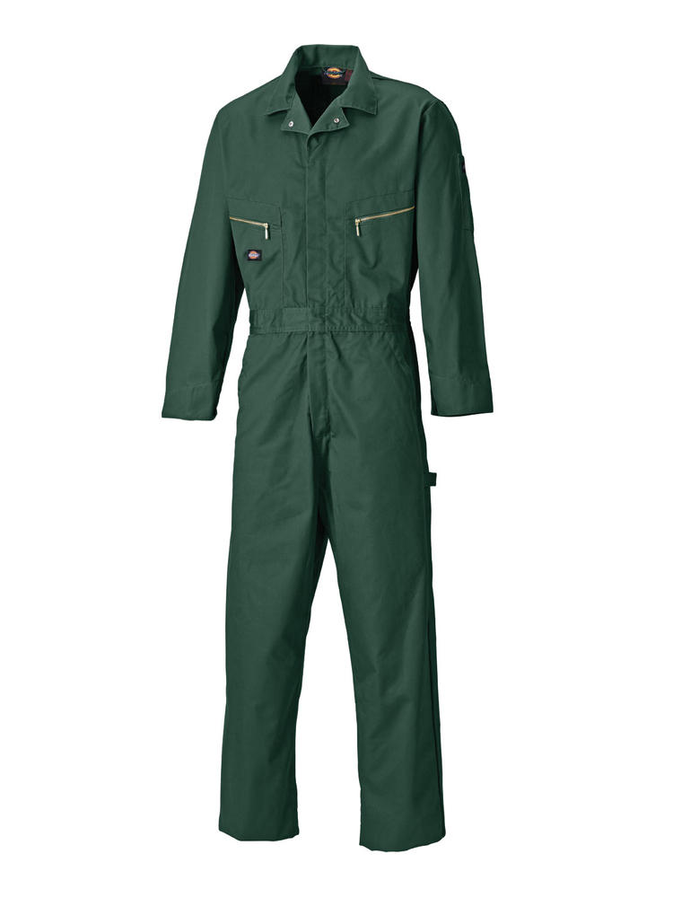 Dickies WD4879 Men Deluxe Overall Polycotton Coverall Green, Size - 38""