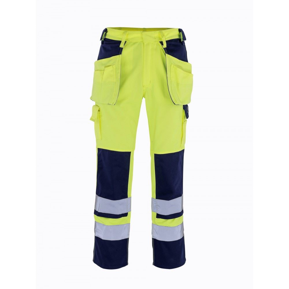 Mascot Trousers Linz 07090-880 Waterproof & Breathable Hi-Vis Yellow Work Trouser