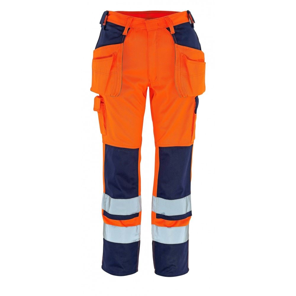 Mascot Trousers Linz 07090-880 Waterproof & Breathable Hi-Vis Knee Pads Pockets Work Trouser