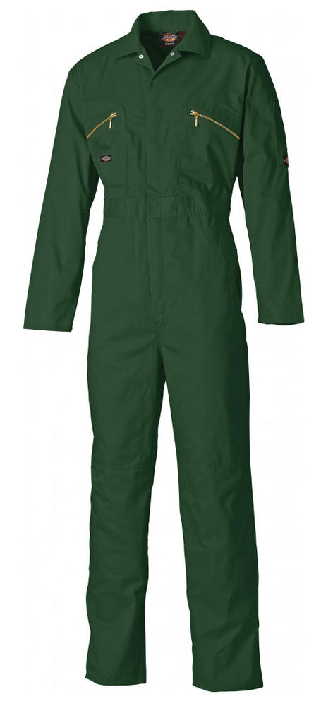 Dickies WD4839 Redhawk Men Coverall with Zip Front Bottle Green