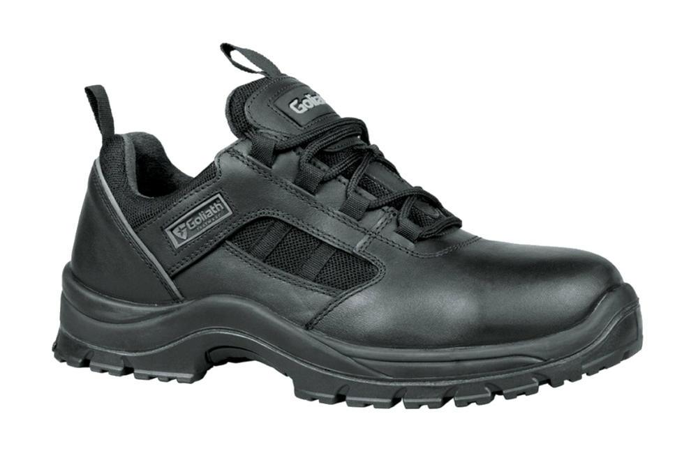 Goliath DLPM1011 Non Metal S1P SRC HRO CI Safety Black Trainer Shoes, Size - 11