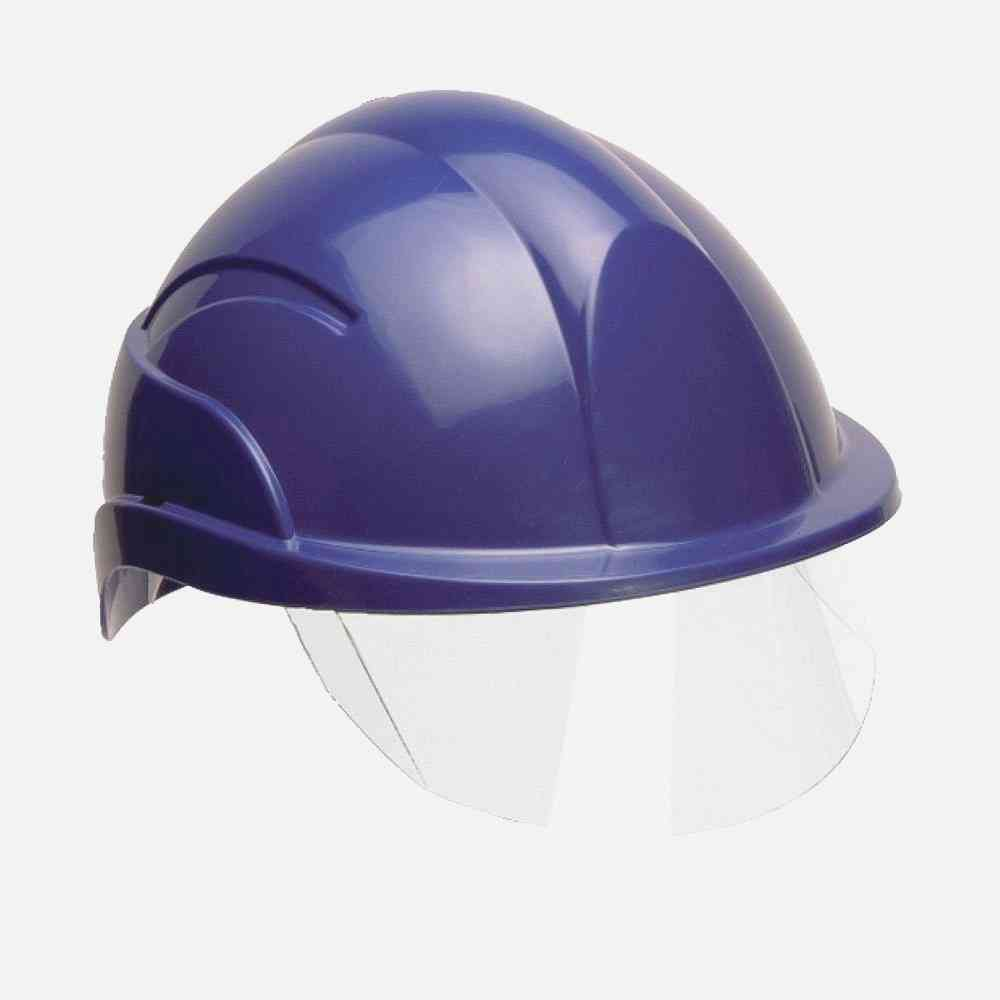 Centurion Vision S10 Safety Blue Helmet with Integrated Clear Visor