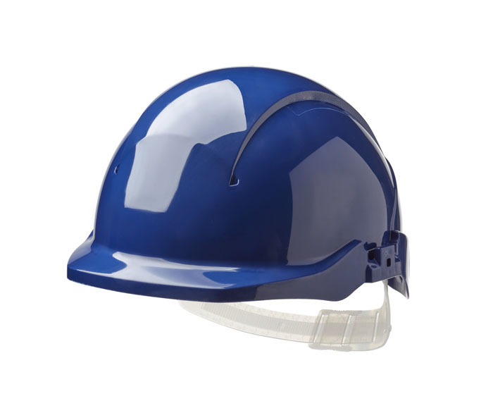 Centurion Concept S08BA Safety Helmet Non Vented Reduced Peak Blue
