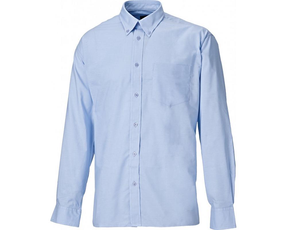 "Dickies SH64200 Men's Oxford Weave Long Sleeve Shirt Royal Blue Collar Size 16"""
